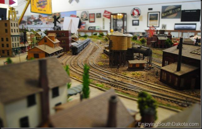 image model train at the South Dakota Railroad Museum