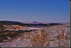picture of Bear Butte from White Rocks in Deadwood