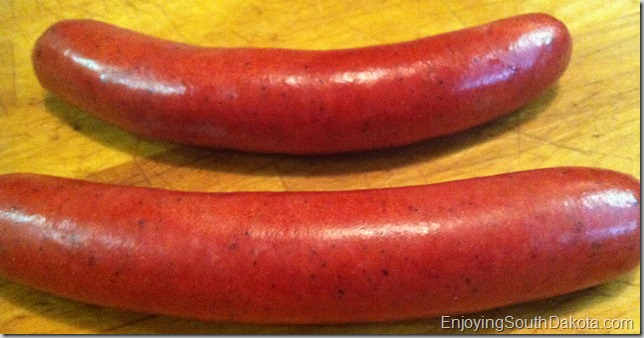 photo of red hot dogs made in South Dakota