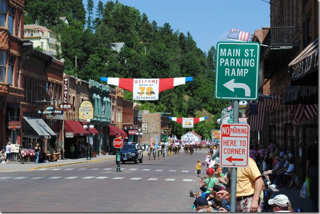 photo of Deadwood main street during the Days of 76 event