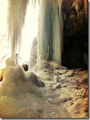 photo of ice in Spearfish Canyon