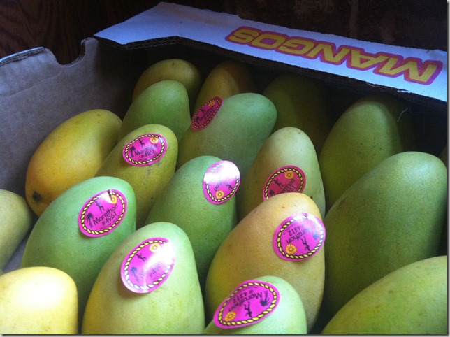 mangos I added to my bountiful basket I picked up in Letcher SD