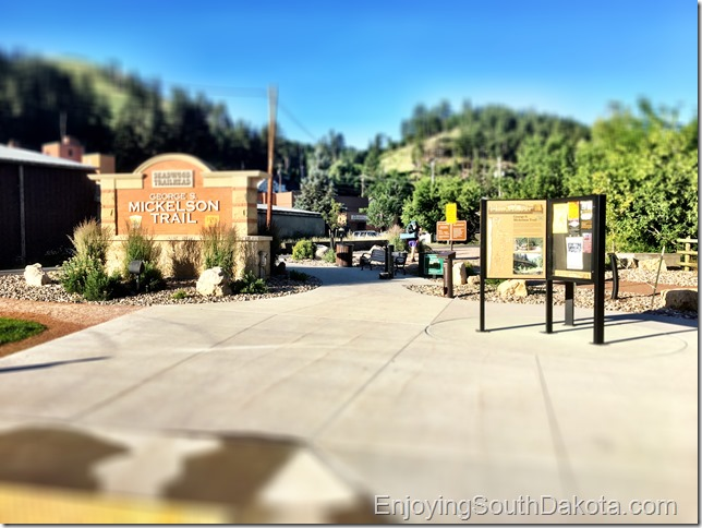 The Start of the Mickelson Trail the trailhead in Deadwood