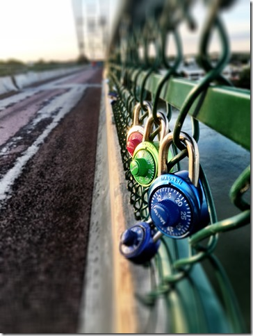 locks on meridian bridge