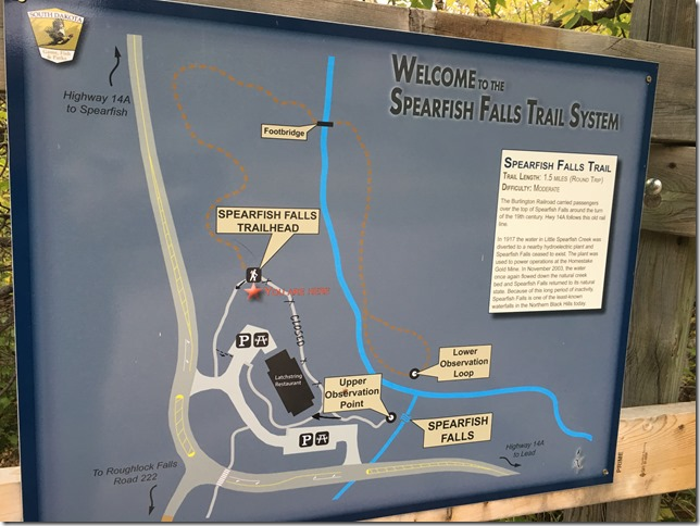 hiking speafish falls trail map