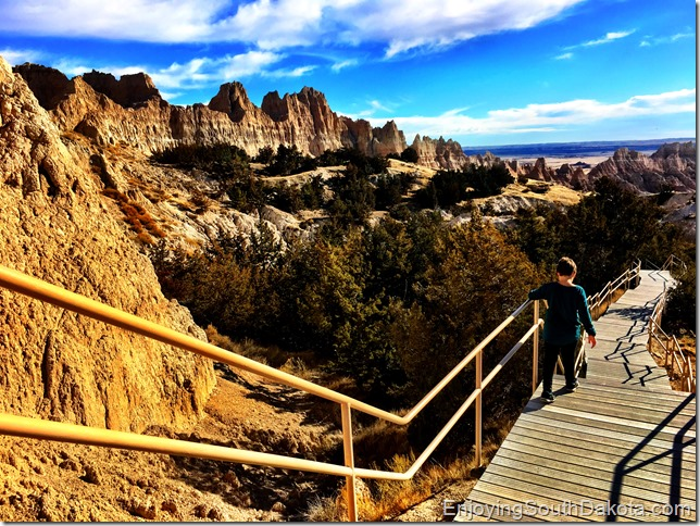 hiking Badland Cliff Shelf Nature Trail