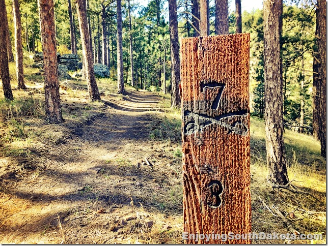 Hiking, running and mountain biking trails near Sturgis SD